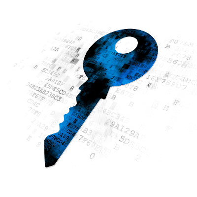 shutterstock Blue data key
